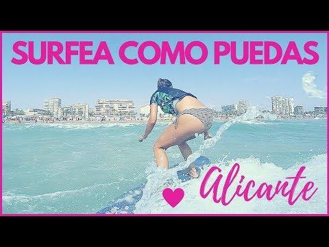 ✅ APRENDIENDO SURF con 40 años en ALICANTE [Agosto 2018] con el Club de Surf El Moreno