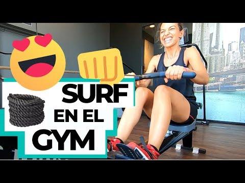 ✅ Entrenamiento SURF en gimnasio   Día sin olas en gym McFit