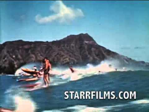 Duke Kahanamoku Surfing 1939 COLOR Stand Up Paddleboard SUP