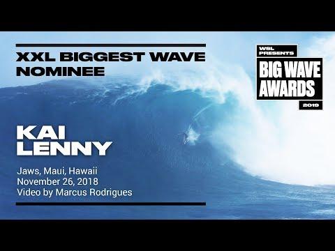 Kai Lenny at Jaws - 2019 XXL Biggest Wave Nominee - WSL Big Wave Awards