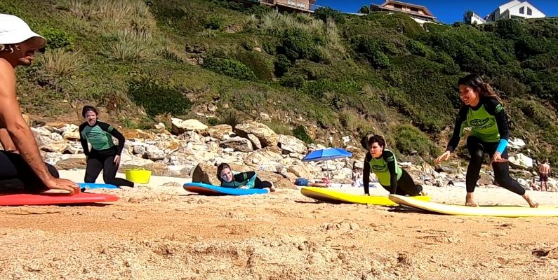 Cómo se forman las olas y un take off en arena