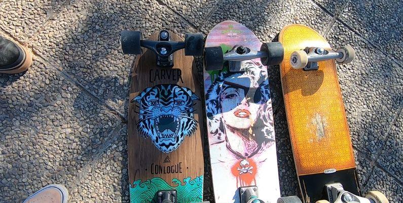 Comparativa carver surfskate