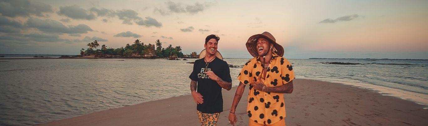 Gabriel Medina y Neymar, amigos