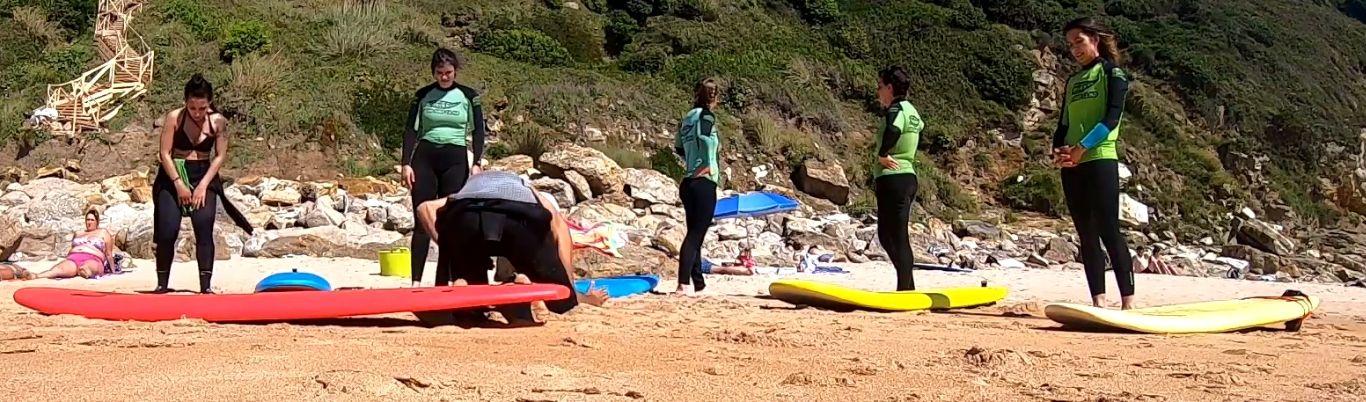 Periodo en el surf y clase de take off