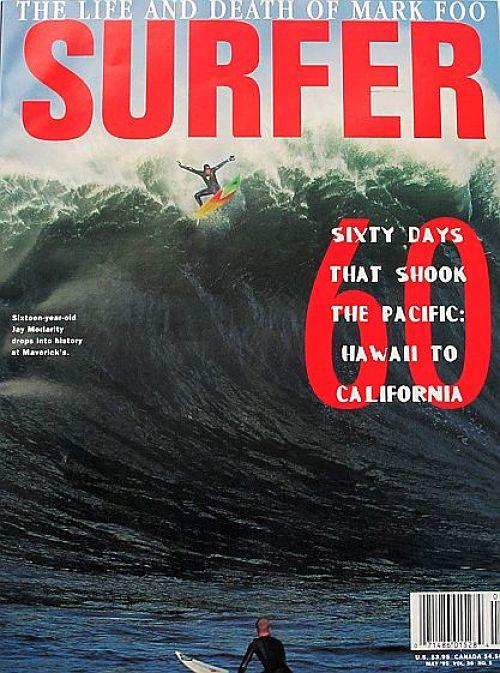 Jay Moriarty en la portada de Surfer Magazine